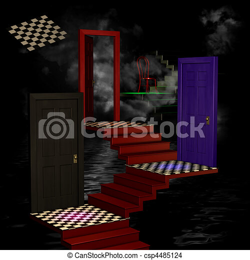Abstract 3D Room - csp4485124