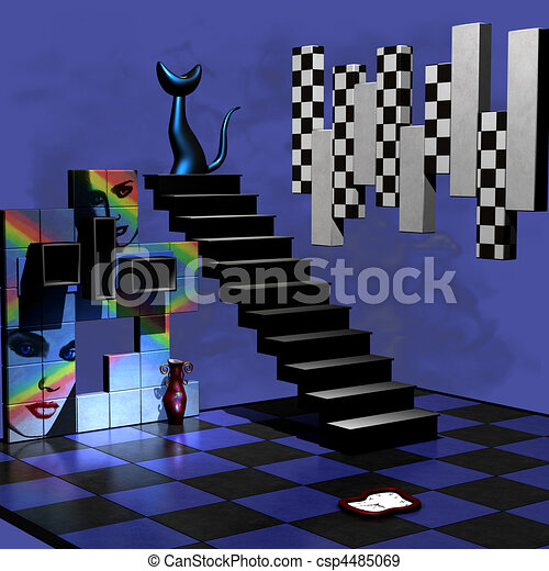 Abstract 3D Room - csp4485069
