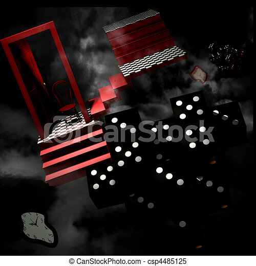 Abstract 3D Room - csp4485125