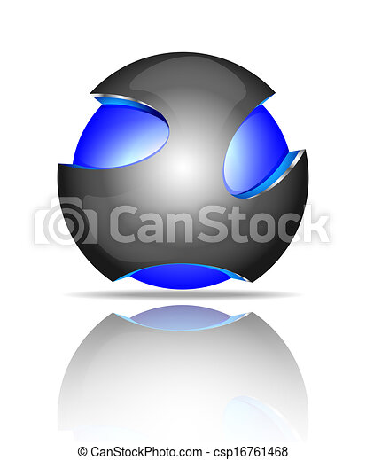 Abstract 3d sphere logos - csp16761468