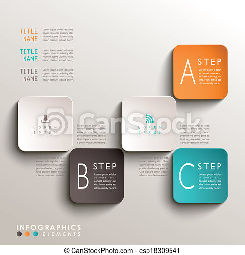 abstract 3d tag infographics - csp18309541