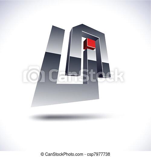 Abstract 3d UA icon. - csp7977738