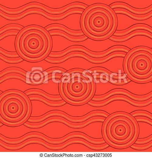 Abstract Aboriginal line painting in vector format. - csp43273005