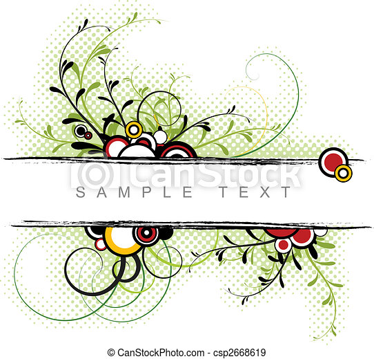 abstract, achtergrond, floral - csp2668619