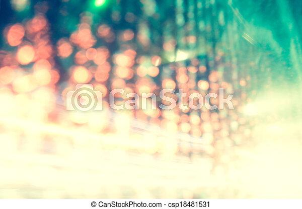 abstract, achtergrond, lichten, bokeh, defocused - csp18481531