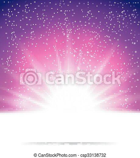 abstract, achtergrond, magisch, licht - csp33138732