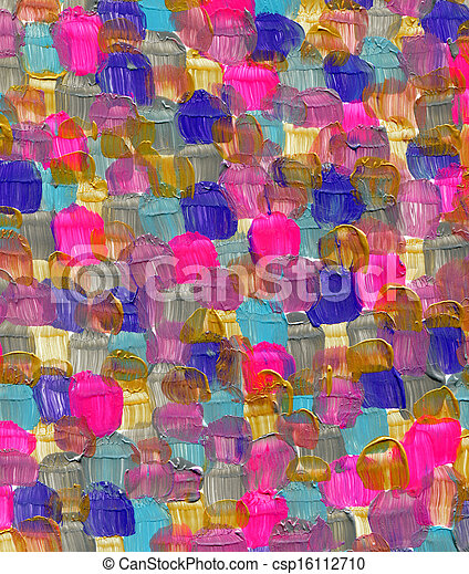 Abstract acrylic hand painted background - csp16112710