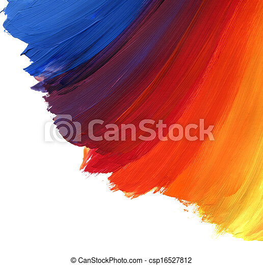 Abstract acrylic hand painted background - csp16527812
