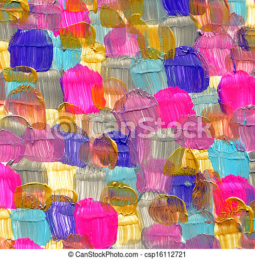 Abstract acrylic hand painted background - csp16112721