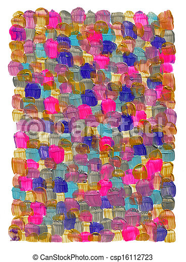 Abstract acrylic hand painted background - csp16112723
