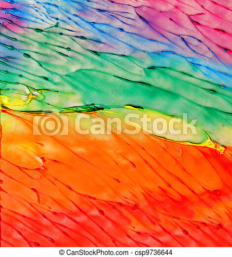 Abstract acrylic hand painted background - csp9736644
