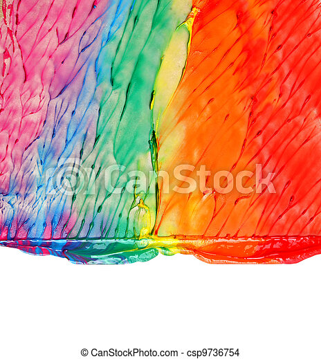 Abstract acrylic hand painted background - csp9736754