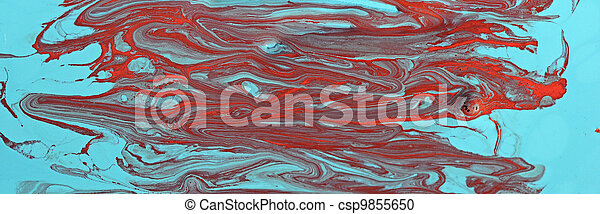 Abstract acrylic hand painted background - csp9855650