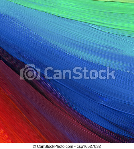 Abstract acrylic hand painted background - csp16527832
