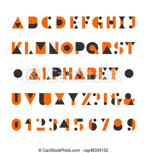 Alphabet Style abstract alphabet font. geometric style letters. abstract alphabet