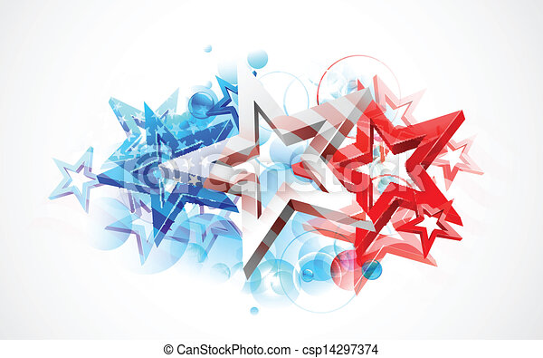 Abstract American Flag Background - csp14297374