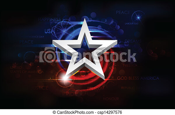 Abstract American Flag Background - csp14297576