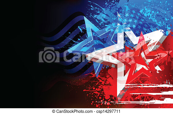 Abstract American Flag Background - csp14297711