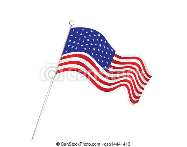 abstract american flag background - csp14441413