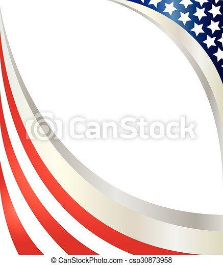 Abstract American flag. - csp30873958