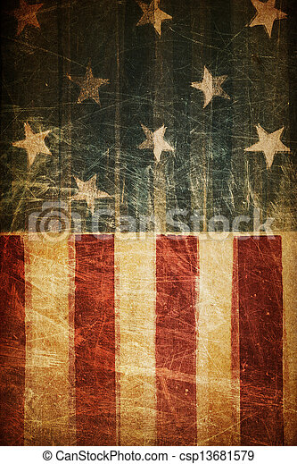 Abstract american patriotic background (based on flag theme) - csp13681579