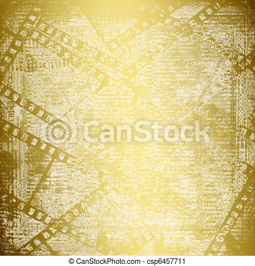 Abstract ancient background in scrapbooking style with gold ornamentat - csp6457711