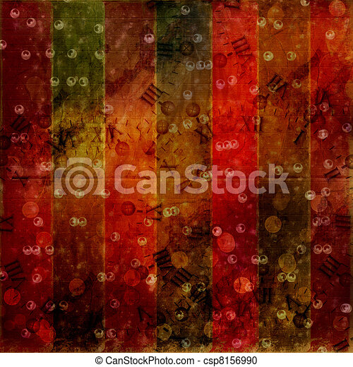 Abstract ancient background in scrapbooking style with gold ornamentat - csp8156990