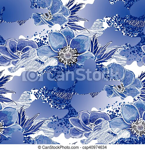 Abstract anemone pattern - csp40974634