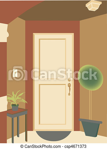 Abstract angled doorway entrance in - csp4671373
