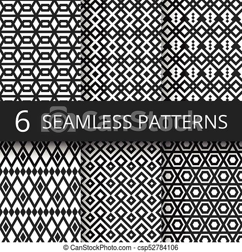 Abstract Arabic Geometric Vector Seamless Patterns Arab Architecture Islamic Repeating Texture