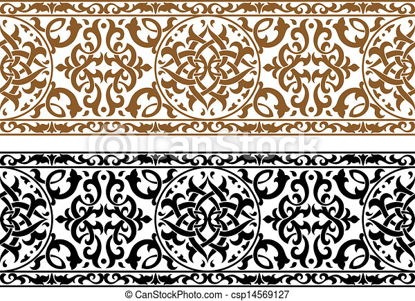 Line Art Design Abstract : Abstract arabic ornament in two colors for design and ornate