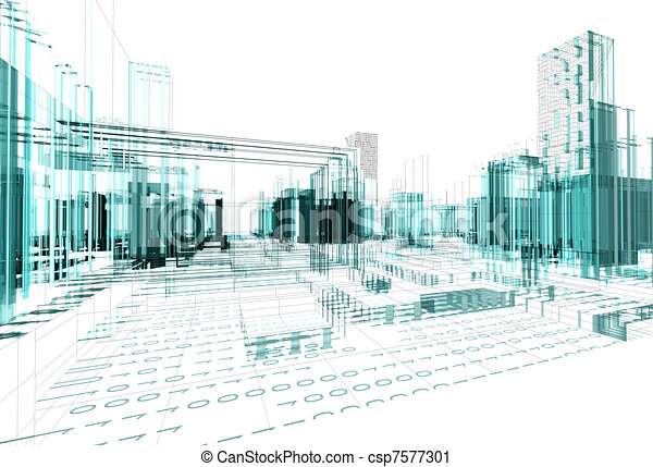 Abstract Architecture Background   Csp7577301
