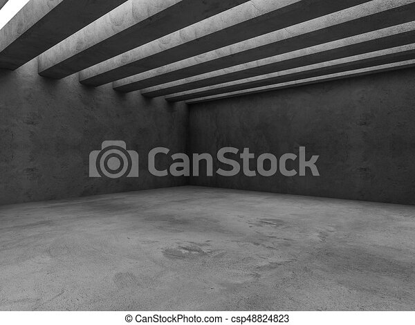 Abstract architecture interior background. 3D - csp48824823