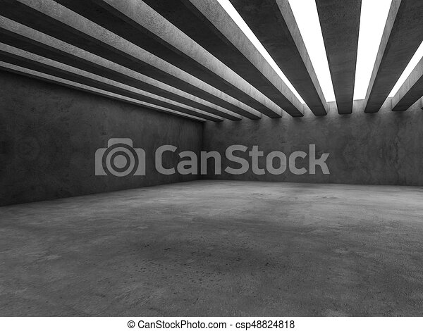 Abstract architecture interior background. 3D - csp48824818