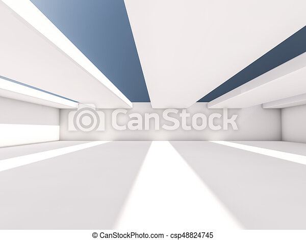 Abstract architecture interior background. 3D - csp48824745