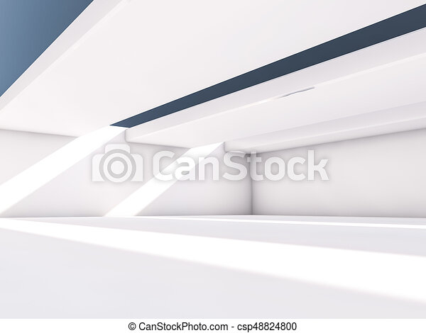 Abstract architecture interior background. 3D - csp48824800