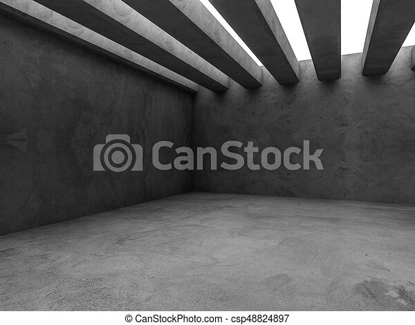 Abstract architecture interior background. 3D - csp48824897