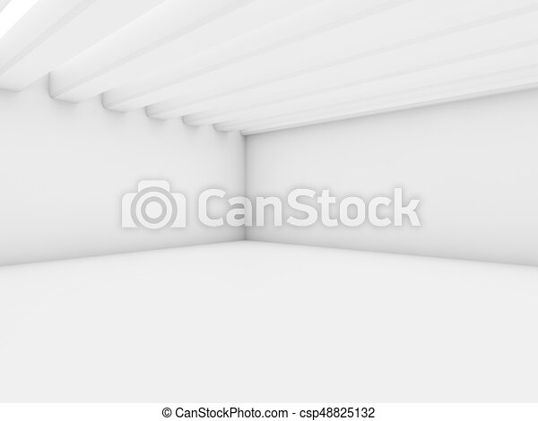 Abstract architecture interior background. 3D - csp48825132