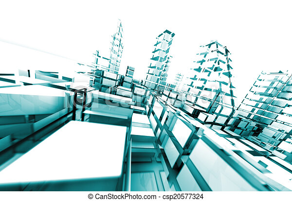 Architektur abstrakt. - csp20577324
