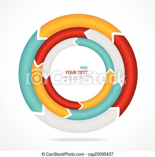 Abstract arrow banner for text. Circle diagram. - csp23095437