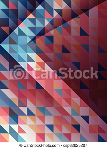 abstract arrow with blue and pink triangles pattern