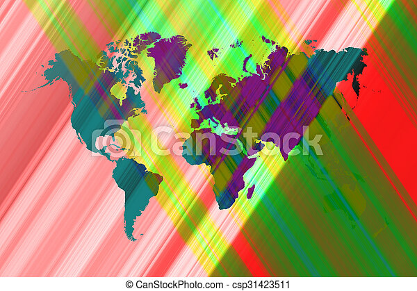Abstract art background with world map abstract graphic abstract art background with world map csp31423511 gumiabroncs Gallery