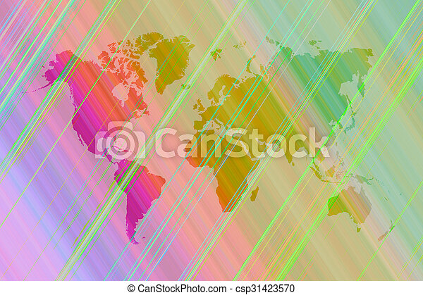Abstract art background with world map abstract graphic picture abstract art background with world map csp31423570 gumiabroncs Gallery
