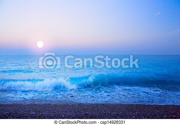 abstract art beautiful light  sea summer background - csp14928331