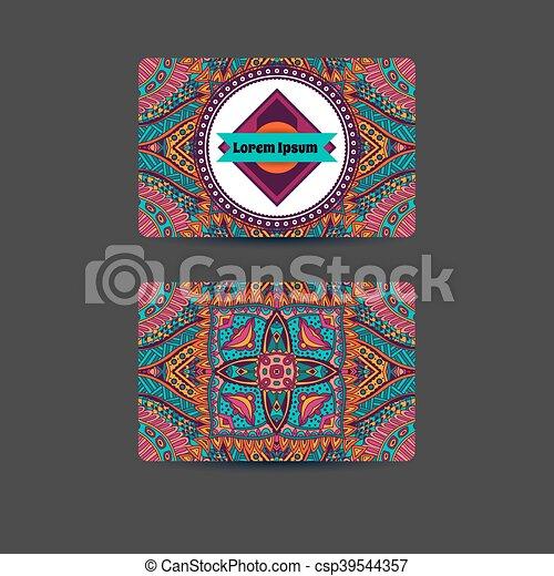 abstract art card template design - csp39544357