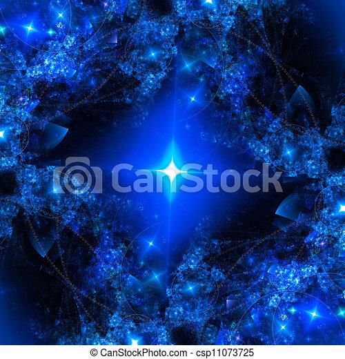Abstract art star backdrop (wallpaper). - csp11073725