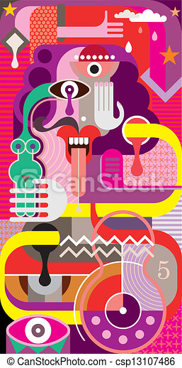 Abstract Art - vector illustration - csp13107486