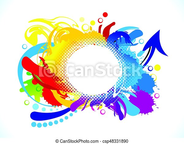 abstract artistic colorful circle explode - csp48331890