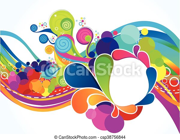 abstract artistic colorful circle explode - csp38756844
