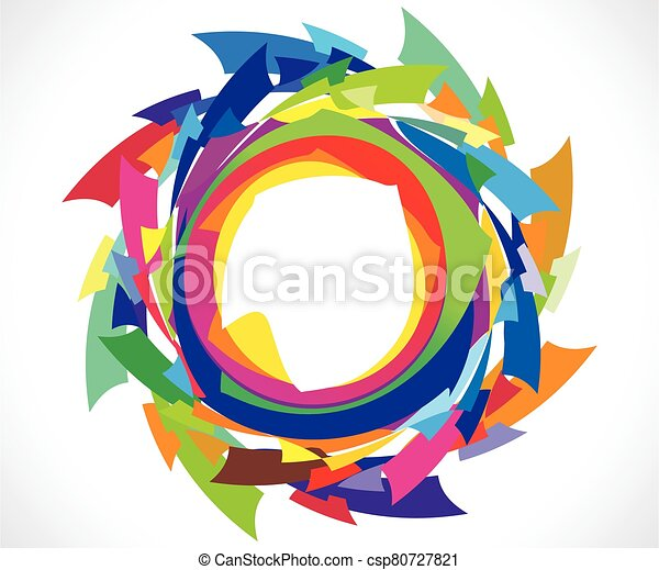 abstract artistic creative colorful circle explode - csp80727821